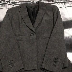 Nine West charcoal gray pants suit